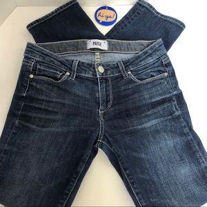 Anthropologie PAIGE-dark wash distressed jeans 👖